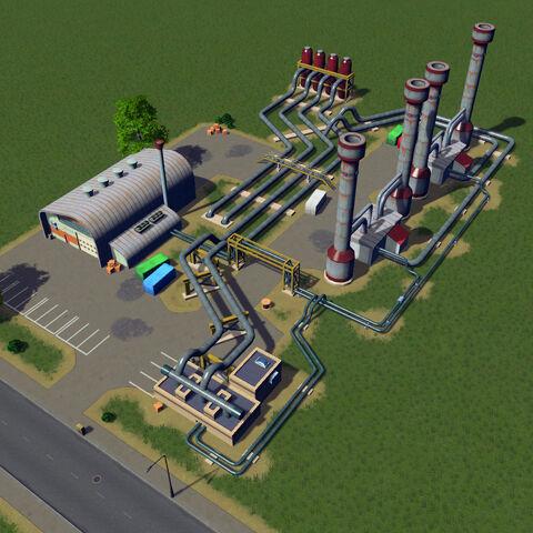 In-game geothermal heating plant