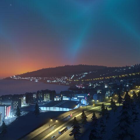 Northern lights-like sky