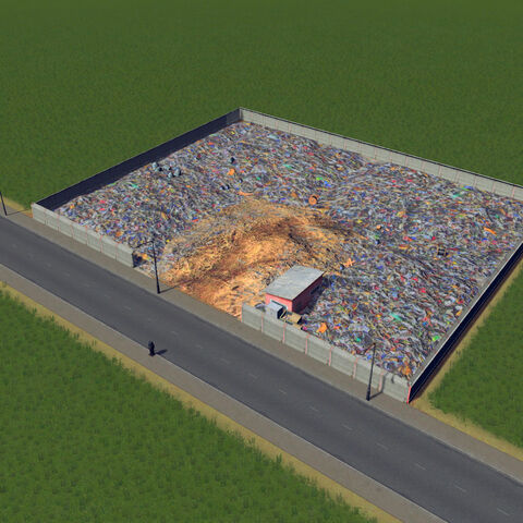 In-game landfill site
