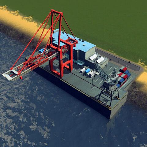 In-game cargo harbor