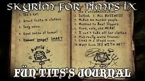 Skyrim For Pimps - Fün Tits' Journal (S1E09) Dark Brotherhood Walkthrough-1