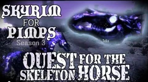 Skyrim For Pimps - Quest for the Skeleton Horse (S3E05) Dawnguard Walkthrough-1