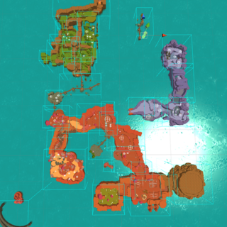 Far, Far Range in 0.2.0. (Note: The Indigo Quarry was disconnected from The Dry Reef prior to its remodel in 0.3.0)