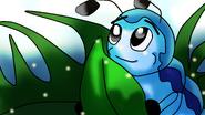 Tailfun-blue shares a leaf