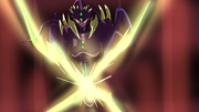 Gunma anime screenshot- rilux queen's x-laser