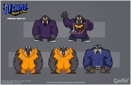 Sly 4 production art walrus criminals by tigerhawk01-d6g81wd