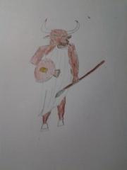 A Minotaur guard.