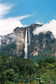 Angel Falls from our camp
