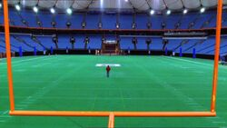 Metropolis University's Football Field