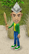 File:Dude with sword and paper hat.png
