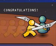 Aim congratulations