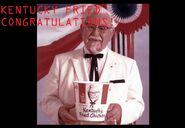 Colonel sanders congratulations