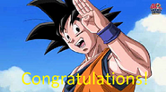 Goku Congratulations