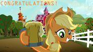 Applejack congratulations