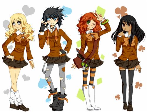 File:Percy Jackson Girls by KreamaSuzuki large.png