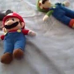 Mario with Mama Luigi