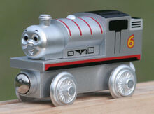 Silver Percy Wooden Train