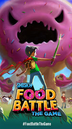 Food battle game official poster
