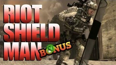 Riot Shield Man Returns...