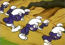 Swarm of Purple Smurfs