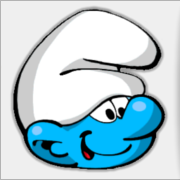 Clumsy Smurf Facebook Profile Pic