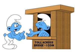 Toll Booth Smurf