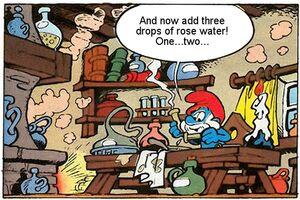 Papa Smurf's Lab Comics