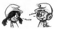 Clockwork Smurf and Smurfette Sketch - Smurfs