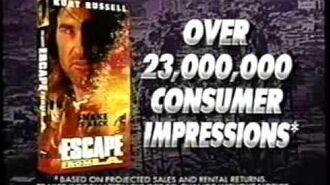 Escape From L.A. Marketing (1996) Promo (VHS Capture)