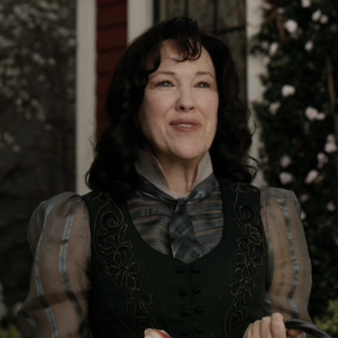 Justice Strauss as portrayed by Catherine O'Hara.