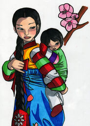 Korean Mother and Child Doll by Kearra