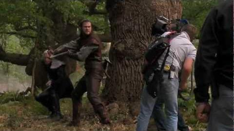 """Snow White and the Huntsman On the Set - """"Huntsman Fights Finn"""""""