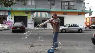 "Using a 3"" diameter PVC tube"
