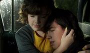 Clare comforts Eli