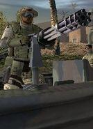 Killjoy holding minigun
