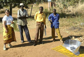 Solar cooker production in Nkhotakota