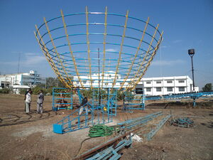 TintTech large basket being fitted to foundation, 1-28-15