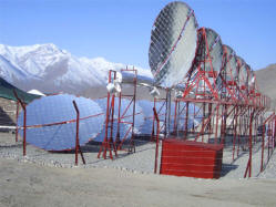 Giant solar cooking system in India
