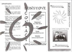Sunstove brochure 1