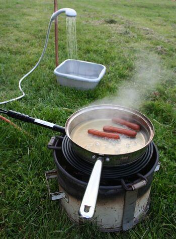 Jompy Water Boiler in use