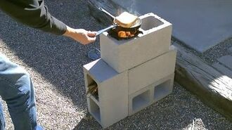 "The ""4 Block"" Rocket Stove! - DIY Rocket Stove - (Concrete Cinder Block Rocket Stove) - Simple DIY"