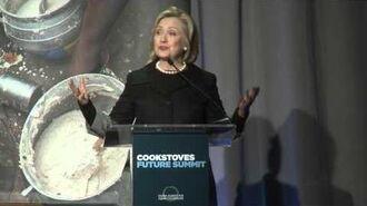 Hillary Rodham Clinton Cookstoves Future Summit
