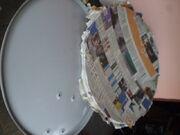 Paper mache parabola