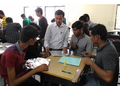 Alzubair Saiyed leads solar cooker workshop for engineering students, 11-28-16.png