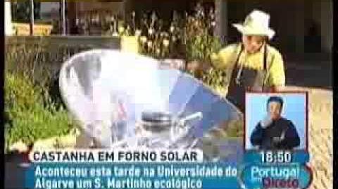 Castanha em forno solar