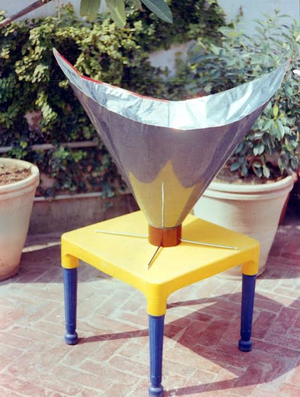 Khan's Backpack Solar Cooker, 10-7-15
