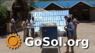 SOL5 Solar Oven at UNHCR Offices in Kakuma, Kenya