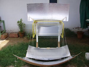 Solar Oven K5, front view, 10-23-14