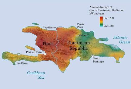 Haiti solar radiation map