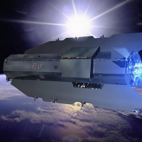 Earth Down Shuttle Horizon to Sun